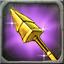 Black Enameled Heavy Spear